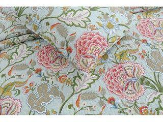 Cozy line Aregada Floral 3 Piece Reversible Cotton Quilt Set  Retail 93 49