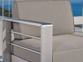 Cape Coral Outdoor Aluminum Club Chair with Cushions by Christopher Knight Home
