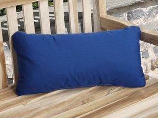Charisma Indoor  Outdoor True Blue Pillow Made with Sunbrella  Set of 2