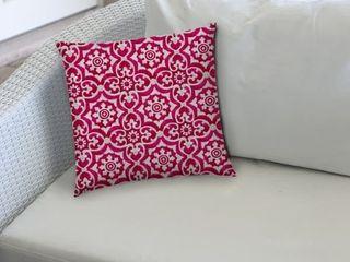ATHENIA Raspberry Indoor Outdoor Pillow   Sewn Closure