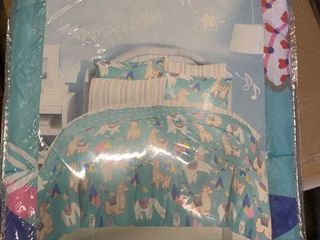 Dream Factory llamas 5 Piece Twin Bedding Set Bedding