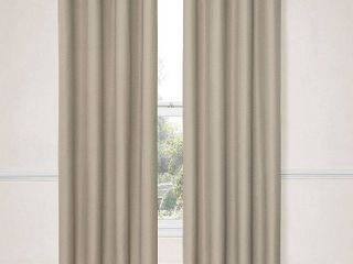 Eclipse Dane Grommet Blackout Window Curtain Panel  52x95 Inch  String set of 2