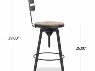 Alanis Fir Wood Antique 26 inch Bar Stool by Christopher Knight Home