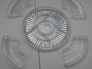 glass snack set