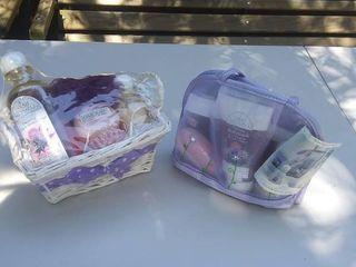 Sarah Michaels gift glam bag and shower basket