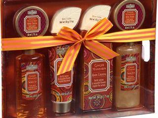 Aromanice Ginger Mandarin Bath Gift Set  8 pc