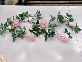 14 garlands Artificial pink roses