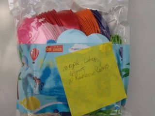 100 pack latex 10 different rainbow colors balloons