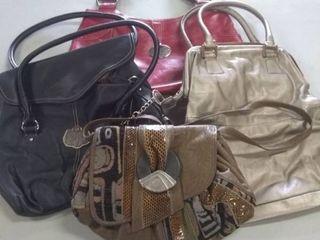 3 medium handbags and 1 small medium handbag