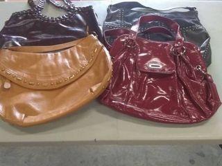 4 handbags purses  mixed colors
