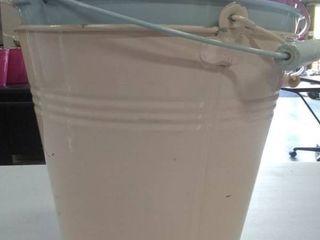 3 gallon metal paint buckets  Various colors