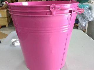 3 three gallon metal paint buckets  same color