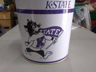 K State popcorn tin  holds 16 oz