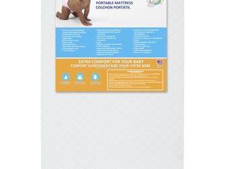 Dream On Me 3  Sunset Extra Firm Portable Crib Mattress  White