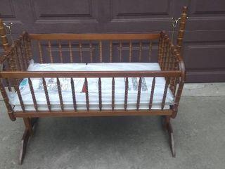 Vintage Wooden Cradle
