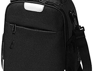 SZKOKUHO Original Durable large Capacity Insulated lunch Bags for Kids Men Women Boys Girls leak Proof lining Dirt Proof lunch Box Container Tote for School Travel Office Work Black