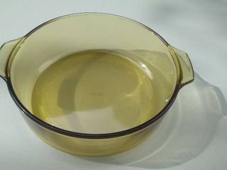 Vintage Amber Colored Glass Bowl