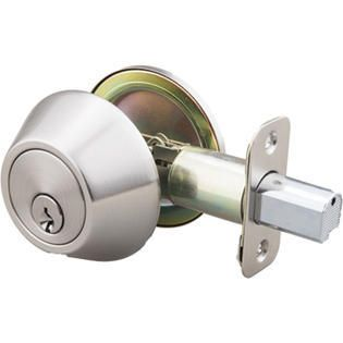 lot of 6 Better Home Products Cylinder Deadbolt  Single Cylinder  Dull Chrome