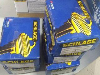 lot of 5 Schlage Single Cylinder Deadbolt   Polished Brass