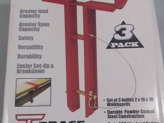 T Brace 3 Pack for Walkboards  Scaffolding  Etc