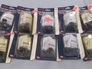lot of 10 Ryobi Flex Drive Adapter Kits PN 4620391