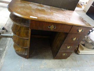 Vintage Desk with Display Shelfs