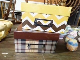 2 Photo Storage Boxes