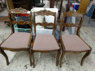 lot of 3 Antique Chairs