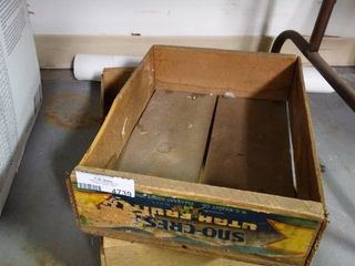 2 Wood Fruit Crates