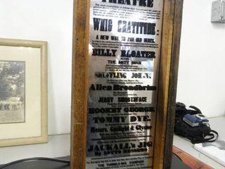 IPSWICK Theatre Framed Mirror