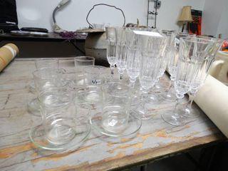Glass Coffee Set and Stemware