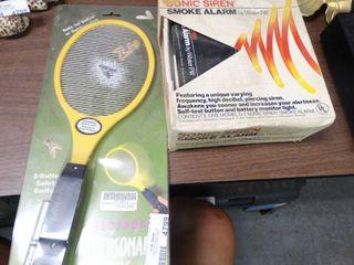 Electronic Fly Swatter and Smoke Alarm