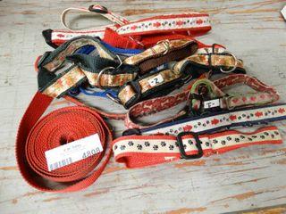 lot of Asst Size adjustable Dog Collars
