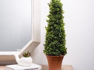 Glitzhome 23 H Artificial Boxwood Topiary Plant