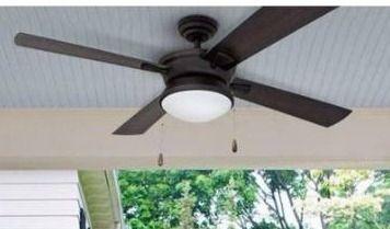 Copper Grove Ayre 52 inch Modern Matte Black Outdoor Ceiling Fan Retail 105 49