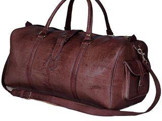 Handmade large Brown Moroccan leather Duffel Bag  Morocco  Retail 152 99