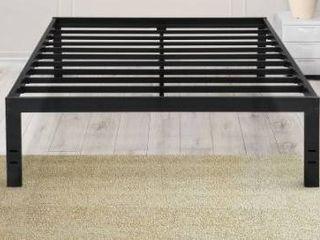 Sleeplanner 18 Inch Tall Heavy Duty Steel Slat Bed Frame  Queen Retail 165 99