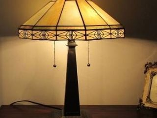 Tiffany Style Mission Design 2 light Table lamp Retail 128 49