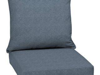Arden Selections Denim Alair Texture Outdoor Deep Seat Set   46 5 in  l x 24 in  W x 5 75 in  H