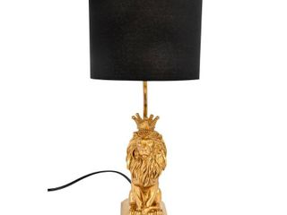 lion Shaped Table lamp with Black Shade Retail 86 39