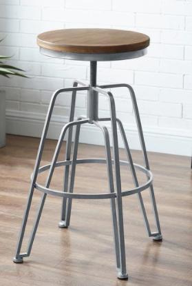 Aimes Wood and Metal Adjustable Stool Retail 107 99