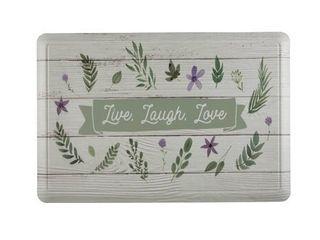 Anti Fatigue Non Slip Foam Standing Kitchen Mat   live laugh love   24  W x 36  l