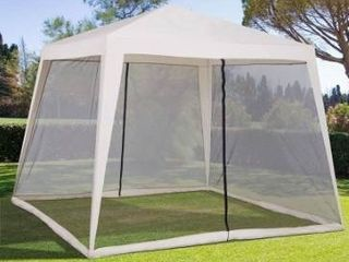 Quili Cream 10x10 Folding Screened Sun Shelter Canopy by Havenside Home Retail 77 48