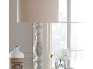 Signature Design by Ashley Bernadate Whitewash 31  Poly Table lamp   Set of 2