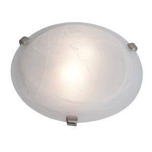 Access lighting Mona 2 light 12 inch Brushed Steel Flush Mount   Brushed Steel