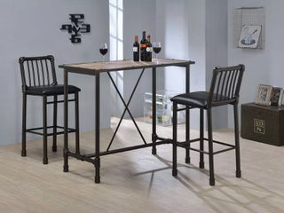 Caitlin Black Tall Bar Chairs  Set of 2  Retail 189 99