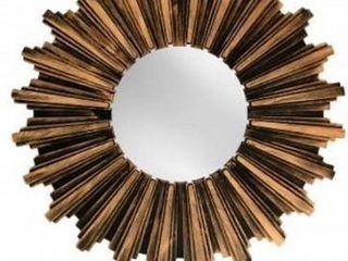 Wall Mirror Antiqued Bronze Sunburst Wall Mirror   Multi   Medium