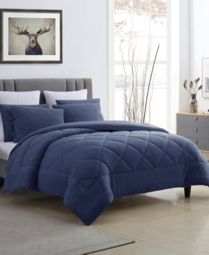 Prewashed Ultra Soft Plush Coral Fleece Reversible Comforter Set Retail 89 99