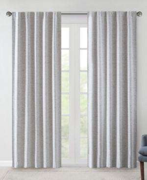 510 Design Ebon 38  x 84  Woven Heathered Total Blackout Curtain Panel Pair