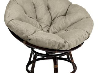 Classic Accessories Montlake 52 in  Dia Water Resistant Outdoor Papasan Cushion in Heather Grey